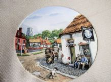 LTD ED DISPLAY PLATE ROYAL DOULTON THE WHITE HORSE MICK BENSLEY JOURNEY VILLAGE